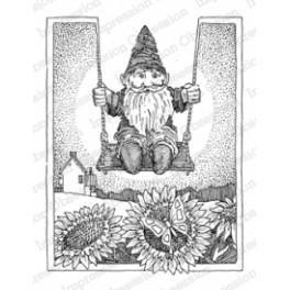 """Motivstempel """"Gnome on Swing"""""""