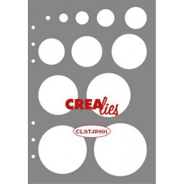 Crealies J&P Schablone Decorations Kreise