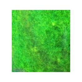 Wolle zum Filzen gelb/grasgrün meliert