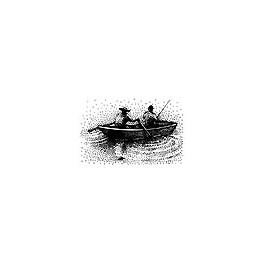 "Motivstempel ""Boating Fishermen"""