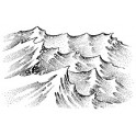 "Motivstempel ""Waves (medium)"""