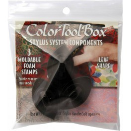 Clearsnap ColorBox Stylus Tips Black Leaf Shape