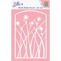 Nellies Choice Mixed Media Stencils A6 Rahmen Blumen