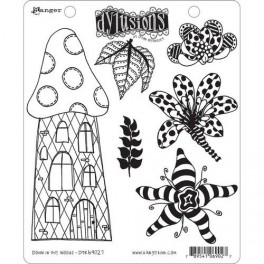 """Ranger Dylusions Cling Stamp Set """"Down in the Woods"""""""