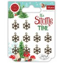 Craft Consortium It's Snome Time Metal Charms Snowflakes
