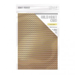 Tonic Studios Craft Foiled Card Golden ZigZag