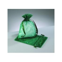 Organza Beutel dunkelgrün