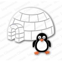 "Schneideschablone ""Penguin & Igloo"""