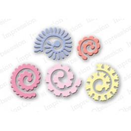 """Schneideschablone """"Spiral Flowers"""""""