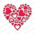 "Schneideschablone ""Heart of Hearts"""