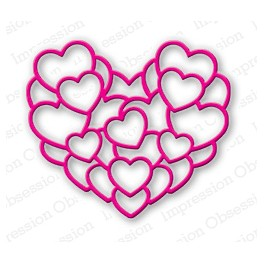 """Schneideschablone """"Layered Heart"""""""