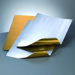Alufolienzuschnitt Prägefolie gold/silber
