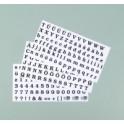 Color-Dekor 180° Buchstaben und Zahlen schwarz
