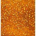 Rocailles 3,5mm mit Silbereinzug orange