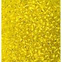 Rocailles 3,5mm mit Silbereinzug gelb