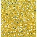 Rocailles 3,5mm mit Silbereinzug hellgelb