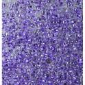 Rocailles 3,5mm mit Silbereinzug violett