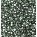 Rocailles 3,5mm mit Silbereinzug grau