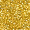 Rocailles 3,5mm mit Silbereinzug goldeinzug