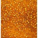 Rocailles 2,6mm mit Silbereinzug orange