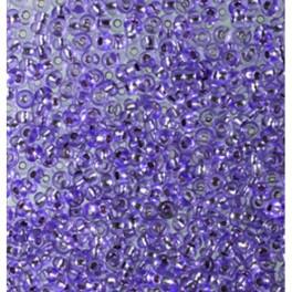 Rocailles 2,6mm mit Silbereinzug violett
