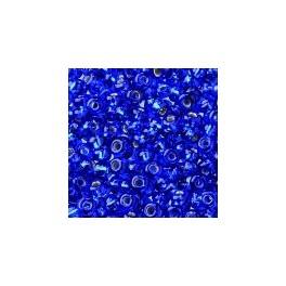 Rocailles 2,6mm mit Silbereinzug dunkelblau
