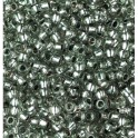 Rocailles 2,6mm mit Silbereinzug grau
