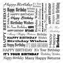 "Motivstempel Cover-a-Card ""Birthday Words"""