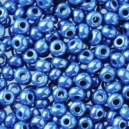Rocailles 2,6mm opal jeansblau