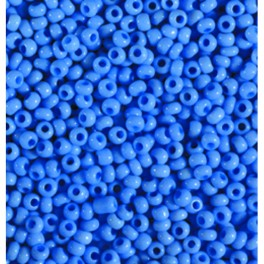 Rocailles 3,5mm opak jeansblau pastell