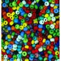Rocailles 2,6mm opak farbig sortiert