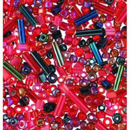 Indianerperlen und Stiftemix rot