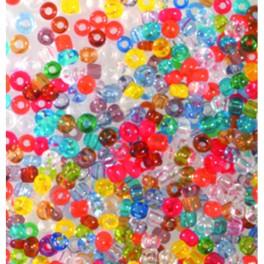 Rocailles 2,6mm transparent farbig sortiert