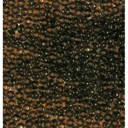 Rocailles 2,6mm transparent dunkelbraun