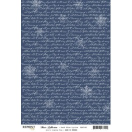 "Basic Collection Papier A4 ""Dark Blue Lyrics"""