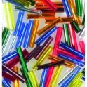 Stiftperlen Silbereinzug farbig sortiert