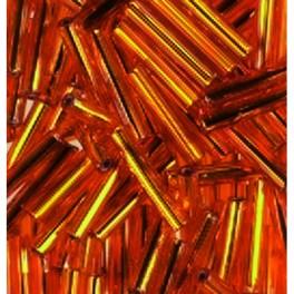 Stiftperlen Silbereinzug orange
