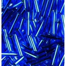 Stiftperlen Silbereinzug blau