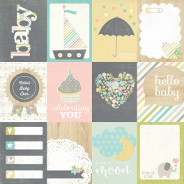"Journaling Cards ""Hello Baby"""