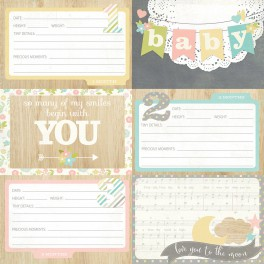 "Journaling Cards Des. 1 ""Hello Baby"""