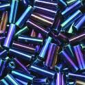 Stiftperlen kurz Silbereinzug blaumix