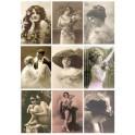 "Reprint A4 Cutout ""Vintage Women"""