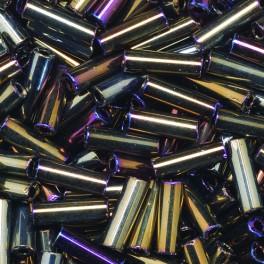 Stiftperlen kurz Silbereinzug braun