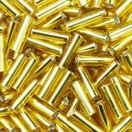 Stiftperlen kurz Silbereinzug gold