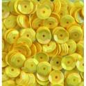 Pailletten rund gewölbt, gelb