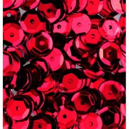 Pailletten rund gewölbt, rot