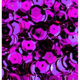 Pailletten rund gewölbt, pink