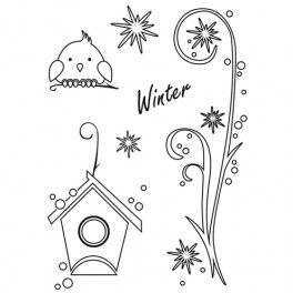 """Stempelset """"Wintervogel"""""""
