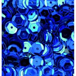 Pailletten rund gewölbt, blau