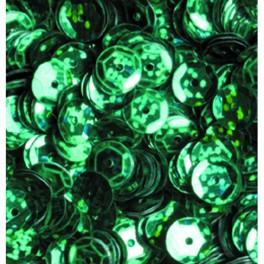 Pailletten rund gewölbt, grün hologramm